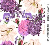Seamless Pattern Vector Floral...