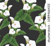 seamless calla lilies flower... | Shutterstock .eps vector #1089466433