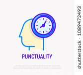 punctuality  time management... | Shutterstock .eps vector #1089472493