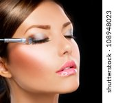 Постер, плакат: Eyes Makeup Make up Eyes shadows Eye