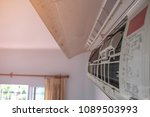 fin of  air condition. dust... | Shutterstock . vector #1089503993
