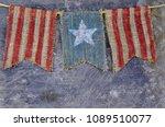 rustic memorial day image of... | Shutterstock . vector #1089510077