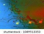 electronic circuit board close... | Shutterstock . vector #1089513353