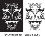 ethnic mask in a graphic style