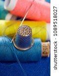 diy concept. sewing supplies ... | Shutterstock . vector #1089518027