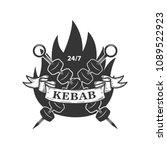 kebab emblem template. fast... | Shutterstock .eps vector #1089522923
