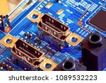 electronic circuit board close... | Shutterstock . vector #1089532223