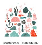hand drawn vector abstract... | Shutterstock .eps vector #1089532307