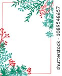 vector invitation card with... | Shutterstock .eps vector #1089548657