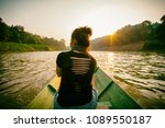 asian women on the local boat... | Shutterstock . vector #1089550187