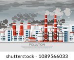 factories with smoke pipes....   Shutterstock .eps vector #1089566033