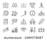 career path icon set. included... | Shutterstock .eps vector #1089578087