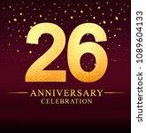 26 years anniversary.... | Shutterstock .eps vector #1089604133