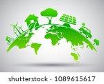 world environment day  ecology... | Shutterstock .eps vector #1089615617