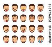 vector cartoon set of a man... | Shutterstock .eps vector #1089616343