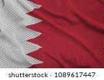 bahrain flag printed on a... | Shutterstock . vector #1089617447