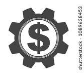 gear cog with an dollar coin... | Shutterstock .eps vector #1089638453
