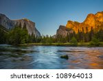 Yosemite Valley  At Sunset Fro...