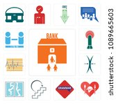 set of 13 simple editable icons ...   Shutterstock .eps vector #1089665603