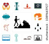 set of 13 simple editable icons ... | Shutterstock .eps vector #1089665927