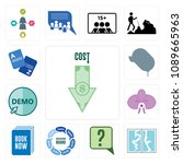 set of 13 simple editable icons ... | Shutterstock .eps vector #1089665963