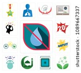 set of 13 simple editable icons ... | Shutterstock .eps vector #1089667337