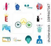 set of 13 simple editable icons ... | Shutterstock .eps vector #1089667367