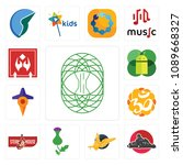 set of 13 simple editable icons ... | Shutterstock .eps vector #1089668327