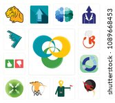 set of 13 simple editable icons ...   Shutterstock .eps vector #1089668453