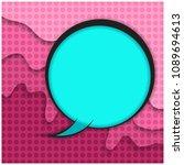 blue retro comic speech bubble...