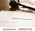 an arbitration agreement and... | Shutterstock . vector #1089697433
