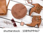 stylized set of female fashion... | Shutterstock . vector #1089699467