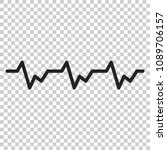 heartbeat icon in flat style....   Shutterstock .eps vector #1089706157