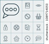 web icons set with trading... | Shutterstock . vector #1089714053