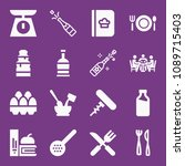 filled food icon set such as... | Shutterstock .eps vector #1089715403