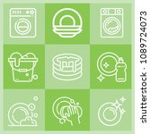 outline cleaning icon set such... | Shutterstock .eps vector #1089724073