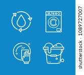 outline cleaning icon set such... | Shutterstock .eps vector #1089727007