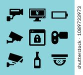 filled technology icon set such ...   Shutterstock .eps vector #1089733973