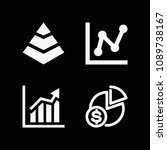 filled chart icon set such as...   Shutterstock .eps vector #1089738167