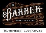 barber lettering design....   Shutterstock .eps vector #1089739253