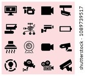 filled technology icon set such ...   Shutterstock .eps vector #1089739517
