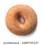 top view of single fresh baked... | Shutterstock . vector #1089745157