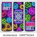 sports betting vertical banner... | Shutterstock .eps vector #1089756263
