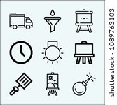 tool related set of 9 icons... | Shutterstock .eps vector #1089763103