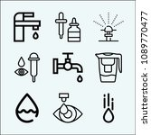 drop related set of 9 icons... | Shutterstock .eps vector #1089770477
