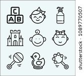 baby related set of 9 icons... | Shutterstock .eps vector #1089770507
