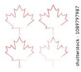 maple leaf vector. canada... | Shutterstock .eps vector #1089797987