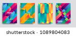 colorful mosaic covers design.... | Shutterstock .eps vector #1089804083