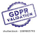 gdpr validation stamp seal.... | Shutterstock .eps vector #1089805793