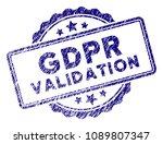 gdpr validation stamp seal.... | Shutterstock .eps vector #1089807347